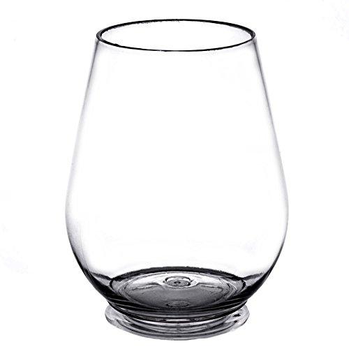 4 oz Stemless Plastic Miniature Wine Goblets (PACK OF (Small Plastic Wine Glasses)
