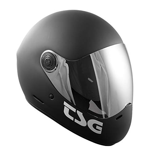 TSG - Pass Full-face Helmet with Two Visors Included | for Downhill Skateboarding, E-Skating, E-Onewheeling, Longboarding