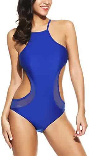 1e9be6c10ee11 Avidlove Women's One Piece Swimsuit High Neck Side Cut Backless Monokini  Swimsuit