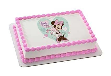 Amazon Minnie Mouse Baby Shower Little One Edible Cake Image