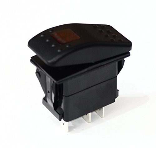 Bandc 5 Pin On-off Dpst Boat Rocker Switch with Led Light Waterproof Dc 12/24v