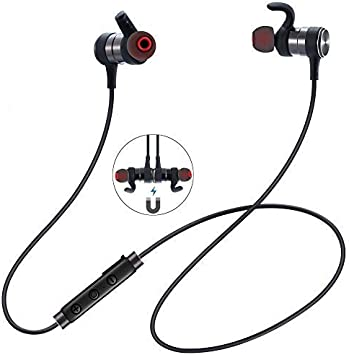 Wasserdicht Bluetooth Kopfhörer Funk Stereo Sport Ohrhörer In Ear Headset Magnet