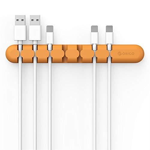 giokfine Cable Winder Wire Organizer Desktop Clips Cord Management Cord Holder (Orange) (Orange Crush Glass Clock)