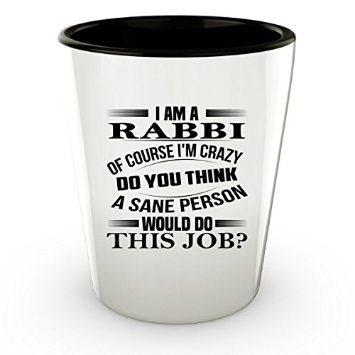 [RABBI Shot Glass - RABBI Gifts - Unique Shot Glass, Coffee Cup #02] (Dog Rabbi Costume)