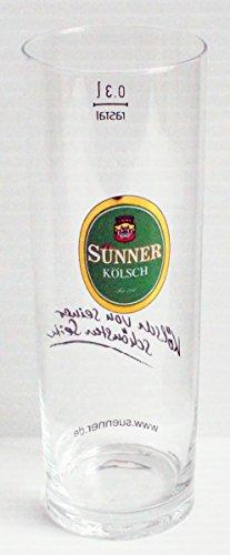 Sunner Kolsch Promotional Tall .3L Beer Glass