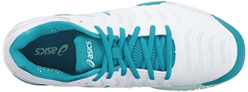 ASICS Women's Gel-Resolution 7 Tennis Shoe White/Arctic Aqua/Glacier Sea sale factory outlet SFLKE