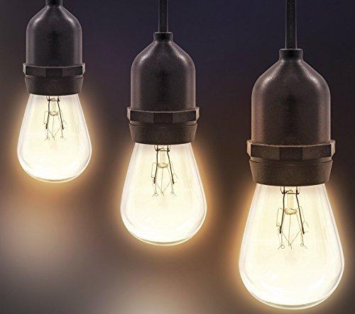 outdoor indoor edison style string lights commercial. Black Bedroom Furniture Sets. Home Design Ideas