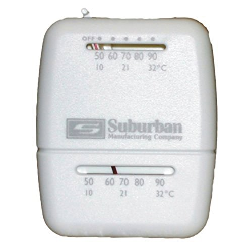 Heater Thermostat - Suburban 161154 Wall Thermostat - Heat Only - White
