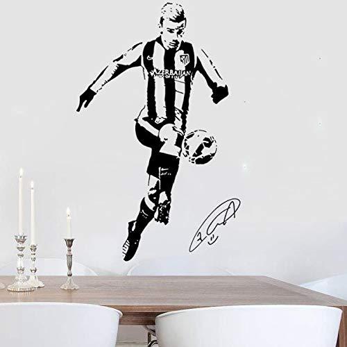 Krisdeer Antoine Griezmann Stickers Etoiles de Football Stickers Chambre Décoration Murale (Noir)