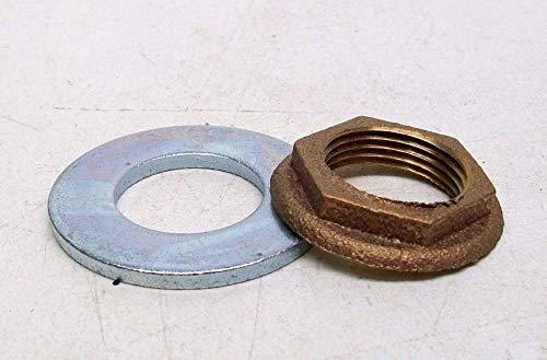 2 PACK CHICAGO FAUCETS 50-003JKRBF LOCKNUT & 50-014JKNF STEEL WASHER 3/4 PIPE KB