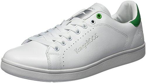 Kangaroos K-Class-x Fg, Men's Low-Top White (White/Green)