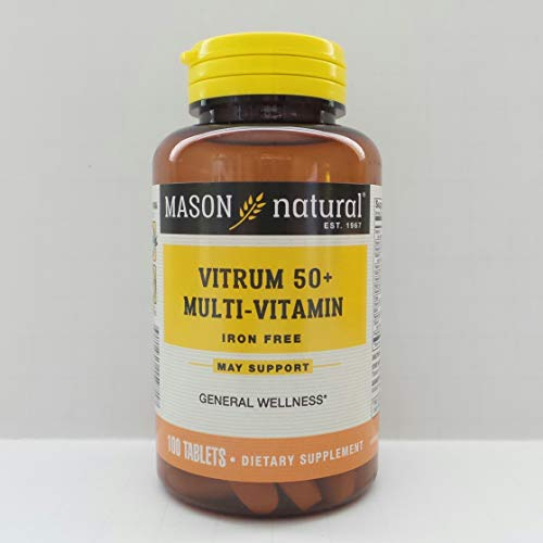 Mason Natural Vitrim 50 Plus Senior Multivitamin and Multimineral Supplement Formula for Adults Tablets - 100 -
