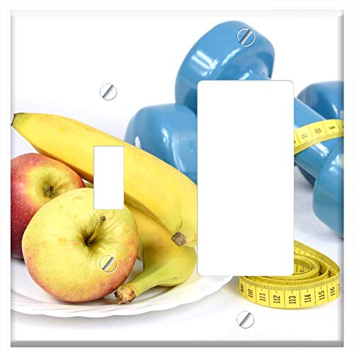 - 1-Toggle 1-Rocker/GFCI Combination Wall Plate Cover - A Change In Lifestyle Banana Diet Healthy