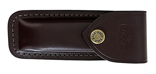 Buck Knives 110 Wood Brass Folding Hunter Knife with Genuine Leather Sheath Exclusive 110CCSB by Buck Knives (Image #2)