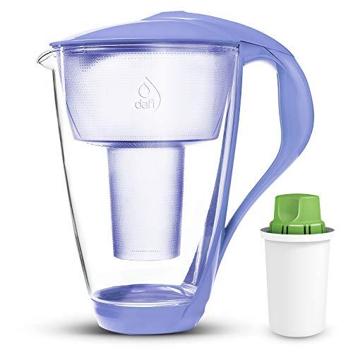 Dafi Alkaline UP Crystal Pitcher 8 cups (Violet - Crystal Glass Water Pitcher with 1 Alkaline UP Filter) (Crystal Glass Violet)