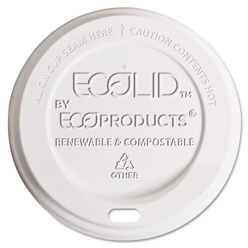 Eco-Products - Hot Cup Lid, 8oz, Translucent, 800/Carton EP-ECOLID-8 (DMi CT