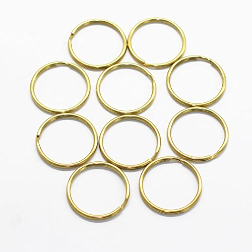 M-W 10PCS Solid Brass Key Ring Key Holder Key Chain(Outside Diameter:35mm/ Inside Diameter:30mm)