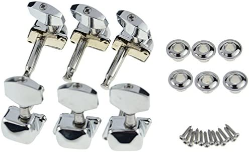 Chrome 3R3L Semiclosed Tuning Pegs Machine Heads for Acoustic Guitar