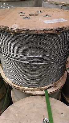 "3/16"" 7x19 Galvanized Aircraft Cable (1000 foot spool) from Honeywell"