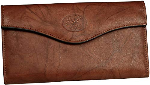 Buxton Heiress Organizer Clutch (Mahogany RFID - Buxton Ladies Wallets