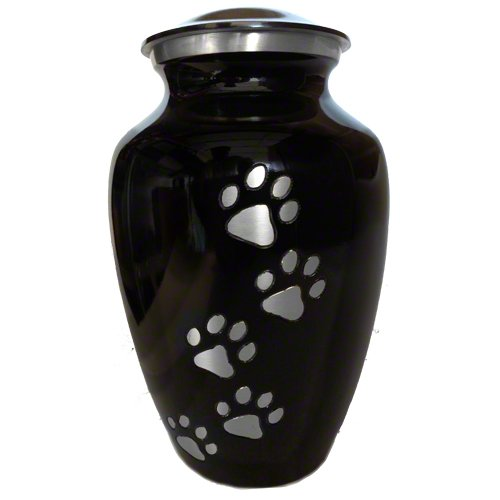 Pet Urns for Dogs Ashes and Pet Memorial with Brash Paws, Medium Size (Personalized Urn For Dog Ashes compare prices)