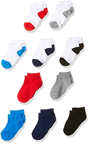 Fruit of the Loom Baby Boys' Low Cut 10 Pack Sock, Assorted, 1.5-4