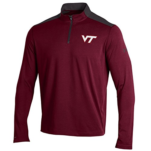 Hokies Under Armour - Under Armour NCAA Virginia Tech Hokies Men's Charged Cotton 1/4 Zip, XX-Large, Maroon