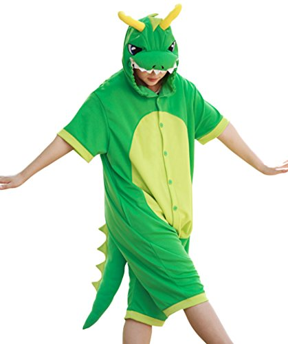WOTOGOLD Animal Cosplay Costume Summer Dragon Pajamas Short Sleeve Green Summer Green X-Large