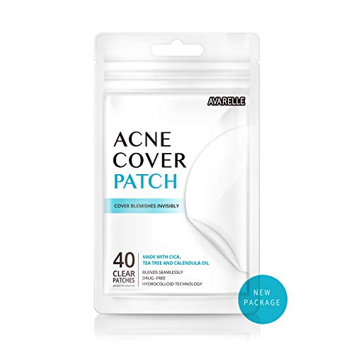 - Avarelle Acne Cover Patch Hydrocolloid, Tea Tree, Calendula Oil, CICA (40 ROUND PATCHES)