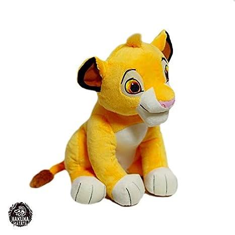 YDGHD El Nuevo Juguete del Rey león Simba de 26 cm, el Peluche del sillón de Simba, el muñeco Kawai, el Dulce Regalo de cumpleaños del Chico