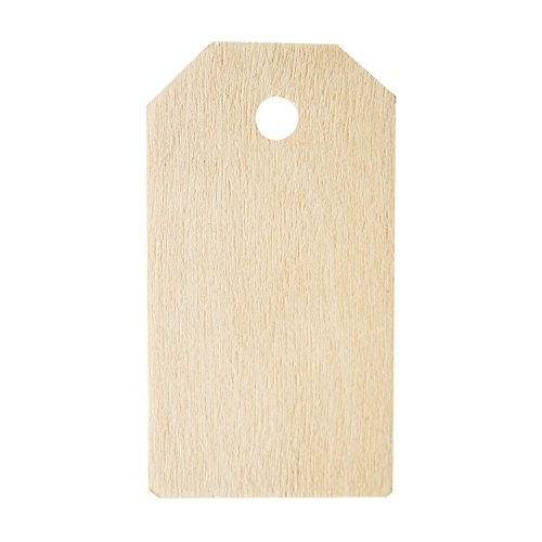 "Blank Wooden Gift Tags Labels 2-1/4"" x 1-1/4"" for Present Party Bags, Wine Bottles, Arts & Crafts, Home Decoration (50 Tags)"