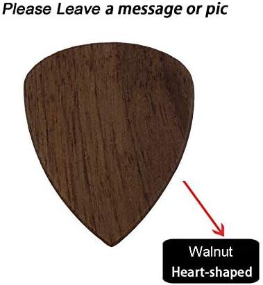 Púa de madera para guitarra acústica, eléctrica, bajo, mediador ...