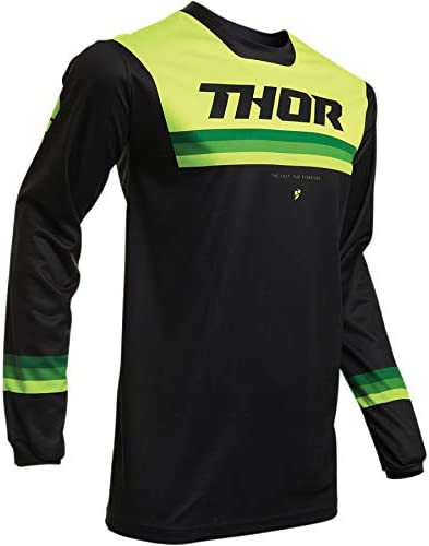 Noir//Vert Taille L Thor Maillot Cross Adulte Pulse Pinner