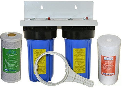 Dual Filter Drinking Water System - iSpring WGB21B 2-Stage Whole House Water, 4.5