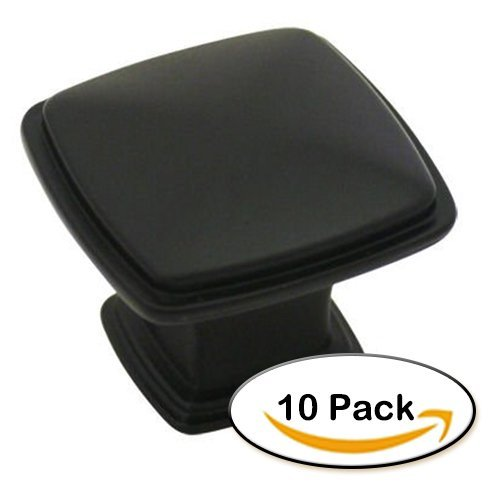Comfort's Home P1AK-10 Cabinet and Drawer Knobs Handles, Black (Pack of 10)