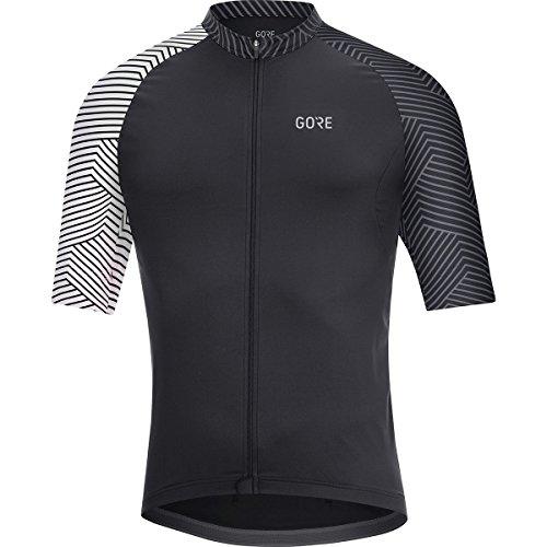 (GORE Wear Men's Breathable Short Sleeve Racing Shirt, C5 Optiline Jersey, XL, Black/White, 100164)