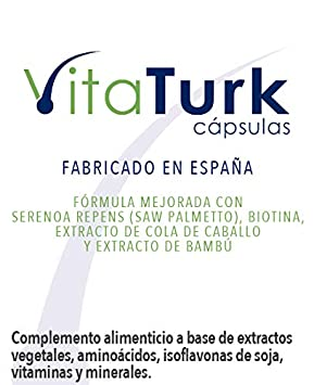 VitaXpecia VitaTurk - 180 cap. Complemento alimenticio a base de vitaminas, minerales, especialmente pensado para cabellos débiles.: Amazon.es: Belleza