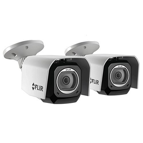 FLIR FX FXV101 4MP Outdoor Wi-Fi Camera with Cloud Recording, 1920x1080, Up to 30fps, H.264, 2 Pack