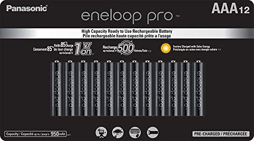 Eneloop Aaa Batteries - Panasonic BK-4HCCA12FA eneloop pro AAA High Capacity Ni-MH Pre-Charged Rechargeable Batteries, 12 Pack