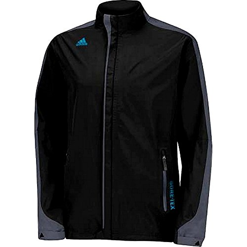 adidas Golf Men's Goretex 2-Layer Full Zip Jacket, Black/Solar Blue/Onyx, Medium by adidas