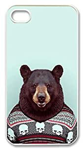Bear iphone4&4s Durable Hard Plastic Case Cover Custom DIY