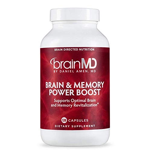 Dr. Amen brainMD Brain & Memory Power Boost - 120 Capsules - Promotes Concentration, Focus, Clarity, Recall & Retention, Contains Ginkgo Biloba & PhosphatidylSerine - 30 ()