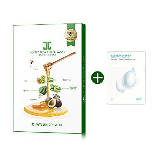 JAYJUN Honey Dew Green MASK 5p with BNS Honey Mask sheet 1p