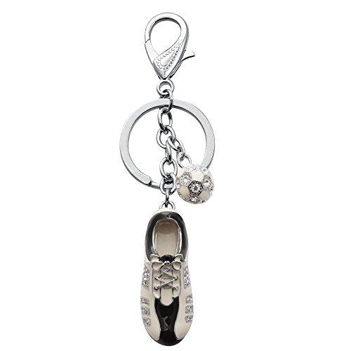 (SENFAI New Key Ring Llavero World Cup football Shoes Football Keychain Keyfob Nice Gift for Football Fans)