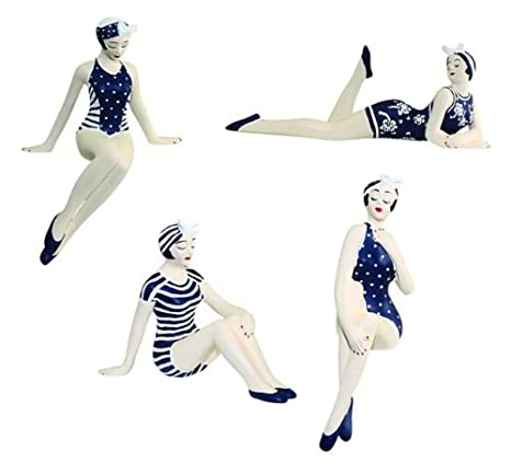 Amazon.com: Retro Belleza de baño Figura 4pc Set | 1920s ...