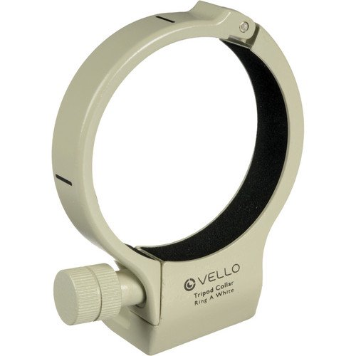 Vello Tripod Collar A (White) for Canon 200mm f/2.8, 70-200mm f/4 & 400mm f/5.6(6 Pack) by VELLO