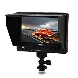 "VILTROX DC-70EX 7"" 4K HD 1024x600 HDMI/SDI/AV Input Output Camera Video LCD Monitor Display for DSLR , with hot shoe adapter"