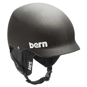 Bern Baker Carbon EPS Matte Finish with Black Knit Helmet (Matte Black, Medium)