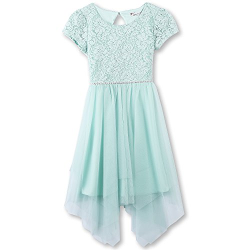 Speechless Big Girls' Party Dress with Fairy Skirt, Pistachio, 14