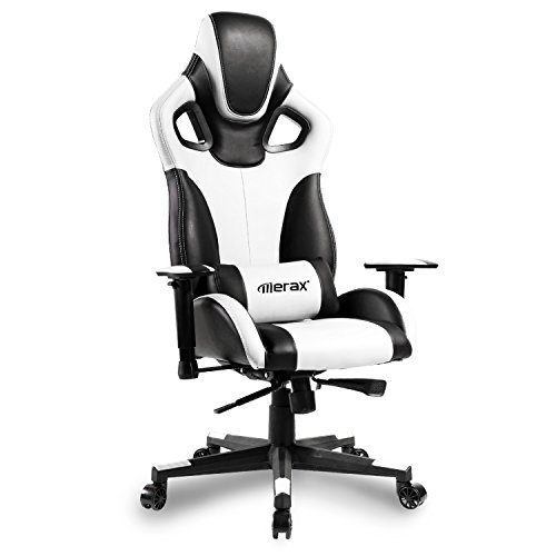 41bd4DDfwzL - Merax-Computer-Gaming-Chair-High-Back-Racing-Style-Chair-Ergonomic-Design-Executive-Chair-white-and-black